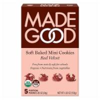 MadeGood Soft Baked Mini Cookies Red Velvet Organic Nut Free 4.25oz PK6 - 6