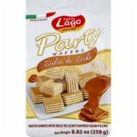 Gastone Lago Party Wafer Cookies Cream  Dulce De Leche , 8.82oz (Pack of 10)