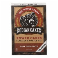 Kodiak Cakes Power Cakes Dark Chocolate Flapjack And Waffle Mix  - Case of 6 - 18 OZ - 18 OZ