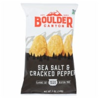 Boulder Canyon - Sea Salt & Cracked Pepper Kettle Cooked Potato Chips - Case of 12 - 5 oz - 5 OZ