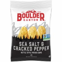 Boulder Canyon, Sea Salt & Cracked Pepper Kettle Cooked Potato Chips, 2.0 oz. (8 count) - 8-2 OUNCE