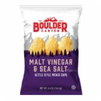 Boulder Canyon Malt Vinegar & Sea Salt Kettle Cooked Potato Chips, 6.5 Oz (Pack of 12) - 12