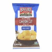 Boulder Canyon - Kettle Cooked Canyon Cut Potato Chips -Natural - Case of 12 - 6.5 oz