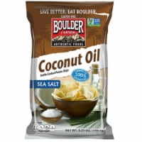 Boulder Canyon Coconut Oil with Sea Salt Kettle Cooked Potato Chips, 5.25 Ounce -- 12  case. - 12-5.2 OUNCE
