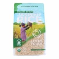 Lotus Foods Organic - Rice - Brown - Jasmine - Case of 6 - 30 oz