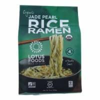 Lotus Foods Ramen - Organic - Jade Pearl Rice - 4 Ramen Cakes - 10 oz - case of 6 - Case of 6 - 10 OZ each