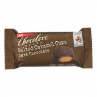 Chocolove Xoxox - Cup - Salted Caramel - Dark Chocolate - 2C - Case Of 12 - 1.2 Oz - 1.2 OZ
