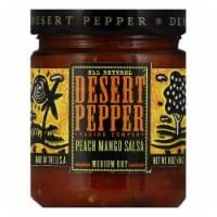 Desert Pepper Mango Peach Salsa - Medium Hot, 16 OZ (Pack of 6) - 6