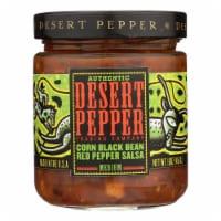 Desert Pepper Trading - Medium Corn Black Bean Red Pepper Salsa - Case of 6 - 16 oz. - Case of 6 - 16 OZ each