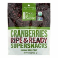 Made In Nature Cranberries Organic Dried Fruit  - Case of 6 - 5 OZ - Case of 6 - 5 OZ each