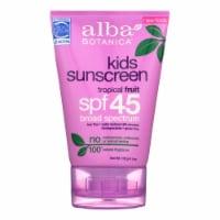 Alba Botanica - Natural Very Emollient Sunscreen for Kids - SPF 45 - 4 oz