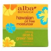 Alba Botanica - Hawaiian Aloe and Green Tea Moisturizer Oil-Free - 3 oz