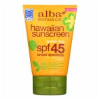 Alba Botanica - Hawaiian Green Tea Natural Sunblock SPF 45 - 4 fl oz