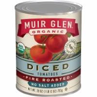 Muir Glen Organic Tomatoes - Fire Roasted - Diced - No Salt - Case of 12 - 28 oz - 28 OZ