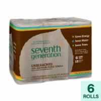 Seventh Generation Recycled Paper Towels - Unbleached - Case of 4 - 120 Count