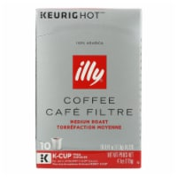 Illy Caffe Coffee - Kcups Red Mediu Roasted - Case of 6 - 10 count - Case of 6 - 10 CT each