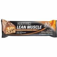 Detour Lean Muscle Cookie Dough Caramel Crisp Whey Protein Bar, 90 Gram -- 48 per case. - 4-12-1 EACH