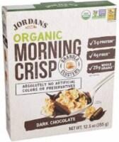 Jordans Organic Morning Crisp Cereal Dark Chocolate, 12.5 oz (Pack of 6) - 6