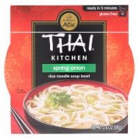 Thai Kitchen Rice Noodle Soup Bowl - Spring Onion - Case of 6 - 2.4 oz. - Case of 6 - 2.4 OZ each
