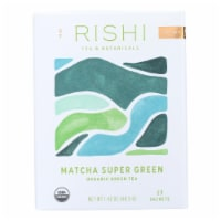 Rishi Green Tea Blend - Matcha Super - Case of 6 - 15 Bags - Case of 6 - 15 BAG each