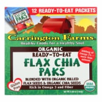 Carrington Farms Flax Paks - Organic - Ready to Eat - Chia - 12 count - case of 6 - Case of 6 - 12 CT each