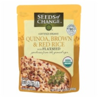 Seeds of Change Organic Quinoa Brown and Red Rice with Flaxseed - Case of 12 - 8.5 oz - 8.5 OZ