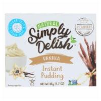 Simply Delish Pudding Mix - Vanilla - Case of 6 - 1.7 oz