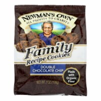 Newman's Own Organics Double Chocolate Chip Cookies - Organic - Case of 6 - 7 oz. - Case of 6 - 7 OZ each