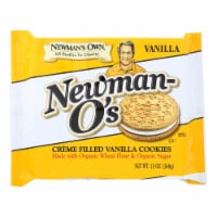 Newman's Own Organics Creme Filled Cookies - Vanilla - Case of 6 - 13 oz. - Case of 6 - 13 OZ each