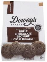 Dewey's Bakery Soft Baked Triple Chocolate Brownie Cookies .6 OZ PK 6 - 6