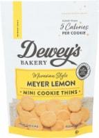 Dewey's Bakery Meyer Lemon Mini Cookie Thins .5 OZ PK 6 - 6
