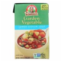 Dr. McDougall's Garden Vegetable Lower Sodium Soup - Case of 6 - 17.9 oz.