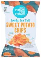 One Potato Two Potato Simply Sea Salt Sweet Potato Chips Gluten Free, 5.75oz (Pack of 12) - 12