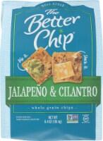 The Better Chip  Jalapeno & Cilantro Whole Grain Chips Non GMO, 6.4oz (Pack of 2) - 12