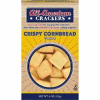 All-American Crackers CornBread Crispy, 4oz (Pack of 6)
