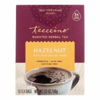 Teeccino Organic Tee Bags - Mediterranean Hazelnut - 10 Bags - Case of 1 - 10 BAG each