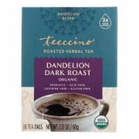 Teeccino Coffee Tee Bags - Organic - Dandelion Dark Roast Herbal - 10 Bags - Case of 1 - 10 BAG each