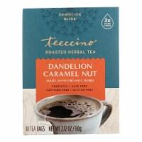 Teeccino Coffee Tee Bags - Organic - Dandelion Caramel Nut Herbal - 10 Bags - Case of 1 - 10 BAG each