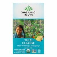 Organic India Organic Tulsi Wellness Tea - Cleanse - 18 Tea Bags - Case of 10 - Case of 6 - 18 BAG each
