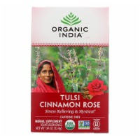 Organic India Tulsi Tea Cinnamon Rose - 18 Tea Bags - Case of 6