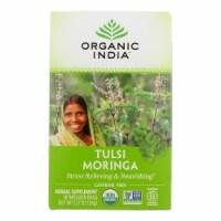 Organic India Tulsi Tea - Organic - Moringa - 18 Tea Bags - 1 Case