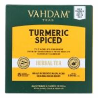 Vahdam Teas - Hrbl Tea Organic Turmeric Spice - Case of 6 - 15 BAG - 15 BAG