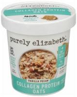 Purely Elizabeth Vanilla Pecan Collagen Oatmeal Cup 12 Count