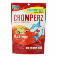 SeaSnax Chomperz Crunchy Seaweed Chips - Barbecue - Case of 8 - 1 oz. - Case of 8 - 1 OZ each