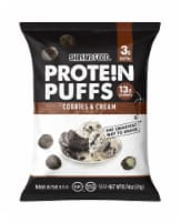 Shrewd Food Protein Puffs Cookies & Cream, .74 oz (Pack of 16) - 16