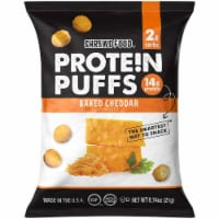 Shrewd Food Protein Puffs Baked Cheddar, .74 oz (Pack of 16) - 16