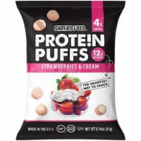 Shrewd Food Protein Puffs Strawberries and Cream , 074 oz (Pack of 16) - 16