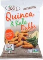 Eat Real Quinoa & Kale Puff Jalapeno & Cheddar Gluten Free Vegan 4oz (Pack of 12)