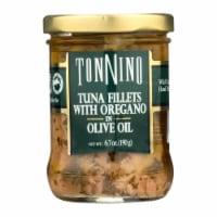 Tonnino Tuna Fillets - Oregano Olive Oil - Case of 6 - 6.7 oz. - 6.7 OZ