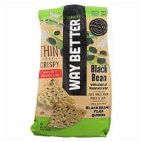 Way Better Snacks Thin And Crispy  Black Bean Made with Organic Corn, 11oz (Pack of  9)
